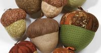 Adorable! Love these giant acorns - perfect for #autumn decor! :D #sew
