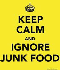 (as if it's as easy as keeping calm when I'm about to lose my mind over pizza...) But still. Ignore that junk food!