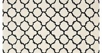 One Kings Lane - High Impact - Tamisin Rug, Ivory/Black
