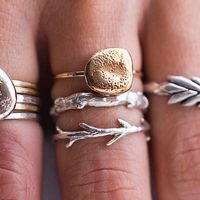 stone rings, branch ring and fashion rings.