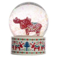 Collectable Scandi Moose Snow Globe Waterball  Made from resin these fun items are great gifts, with each hand painted to give them a unique and individual finish.  They are made from resin and glass and contain a non toxic liquid.  Dimensions: Heig...