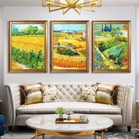 Van Gogh painting Canvas garden oil painting 1pieces Hand painted reproduction of Van Gogh Wall art Pictures for Living room home decoration $79.00