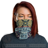 Neck Gaiter Face Mask Unisex Neck Gaiter Multi-functional Face Floral Bandana Face Mask Headband Balaclava Beanie Boho Chic Women Face Cover $19.95