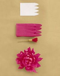 How to make a dahlia out of crepe paper