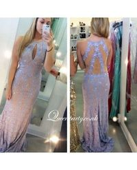 Lace Halter Formal Evening Gown