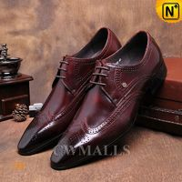 CWMALLS® Mens Leather Brogue Oxfords CW716016