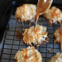 Salted Caramel Coconut Macaroons�€�.These are the Bomb!! A nice flavor combination. The recipe is fairly easy. If you like coconut, chocolate and caramel�€� Try these!! Salted Caramel Coconut Macaroons
