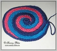 Colorful spiral crochet pad (how-to with pictures, in russian)