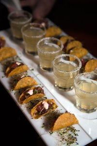 apps: Mini tacos and margs