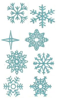 """Pattern / Template for Snowflakes �€"""" Sketches, Patterns & Templates"""