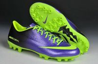Nike Mercurial Veloce AG Soccer Cleats 2015 Purple Volt Green