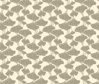 cream and khaki ginkgo leaves fabric by frumafar on Spoonflower - custom fabric