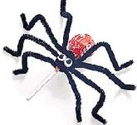 Halloween Recipes for Candy Pop Spiders