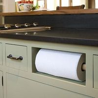 Paper Towel Cubby | For a discrete and convenient paper towel roll location, remove a drawer and install a paper towel holder in its place. | SouthernLiving.com
