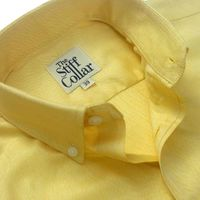 Lemon Yellow Herringbone 2 Ply Premium Giza Cotton Button Down Shirt �'�1999.00