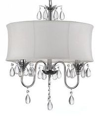 Look at this #zulilyfind! White Teardrop Crystal Chandelier & Shade by Gallery #zulilyfinds
