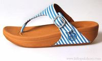 Blue Womens FitFlop The Skinny Textile Sandals