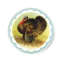 Vintage Holiday Thanksgiving Turkey Stickers
