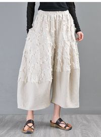 Wide leg pants women, Linen color wide leg pants, Palazzo pants, High waisted pants, Linen wide leg pants, Women harem pants,3/4 pants