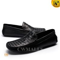 Milan Woven Leather Moccasins CW706165 @ CWMALLS® [Leather Shoes Reviews, Custom Made]