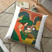 Vibrant double-sided print floor pillows are a versatile seating or lounging option that will update any room Independent designs, custom printed when you order Durable 100% spun polyester cushion cover - fills must be purchased separately for this fl...