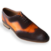 Johny Weber Handmade Oxford Orange Patina Shoes