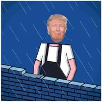 Funny Trump building the wall gif #trumpHumor #TrumpFunny #gif #funnygif #humor