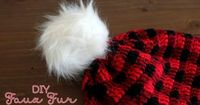 I was crocheting this pretty awesome plaid hat (pattern by Whistle and Ivy), when I realized a fur pom pom would look pretty cool on top. But two of my local cr