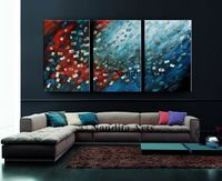 Large Wall Art ABSTRACT PAINTING Acrylic Wall Decor Red Landscape Abstract Canvas Painting Contemporary Art Home Decor, Wall Hanging Sale $548.00