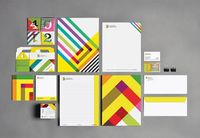 IDC brand identity and stationery designed by Charles Daoud.