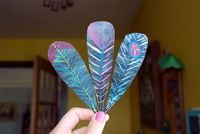 diy cardstock feathers for a diy dream catcher from jena at modish