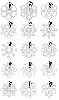 How to cut snowflakes