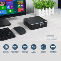 XCY Mini Pc X35 Intel Core I5 8250U Quad Core 16GB+240GB 16GB+480GB Intel HD Graphics 620 Windows 10 DDR4 4K 300M WiFi Gigabit Ethernet HDMI VGA 8xUSB Compact HTPC