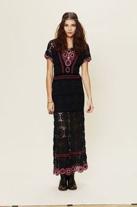 Outstanding Crochet: Crochet maxi dress from Free People.
