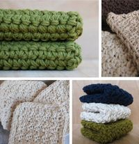 Different sizes and stitches for wash cloths