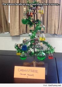 I made a christmas tree at chemistry