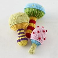 Baby Gear: Mushroom Shaped Rattles in Baby Toys | The Land of Nod