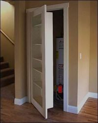 I'm thinking hidden safe room... Or maybe just a safe hiding place for all of my shopping bags.