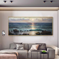 Sea Waves Abstract original oil painting on canvas blue painting seascape texture Wall Pictures wall decor cuadros abstractos hand painted $249.00