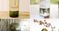 Vase Ideas For Centerpieces Wine bottle vases! What? Yes! Such a creative way to display your flowers. You can even keep the labels on for a vintage look, or remove them with soap and water. For instructions on how to cut a wine bottle visit Picklee. My h...