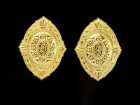 14 Karat Gold Plated Large Magnetic Earrings $35.00 Designed by LauraWilson.com
