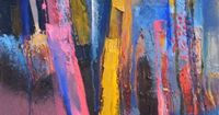 It Was Some Night, abstract painting by Martina Furlong