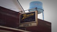 classic sign in a small town for Zenith TV's. 