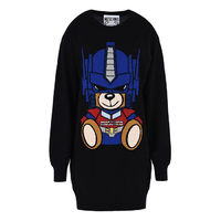 Moschino Transformers Bear Long Sleeves Sweater Black