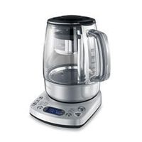 Breville® One-Touch 51-Ounce Electric Tea Kettle. I really got into drinking tea this past winter, and I offered it to my clients who loved it. Instead of running back and forth to the kitchen to heat up my kettle, I really want to try a tea brewer like ...