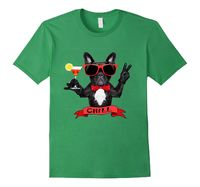 Men's Cocktail Chill Dog t-shirt Small Grass SpiceTree Designs