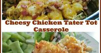 This Crock Pot Cheesy Chicken Tater Tot Casserole is a family favorite. It can be made in the oven too. Only takes minutes to prepare! So yum and so easy!