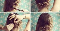 The 9 Most Flattering 5 Minutes Easy Messy Up-dos. I might have to try some of these. Especially when I'm too lazy to do anything with my hair.