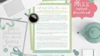 Left right baby shower game Free printable baby shower games