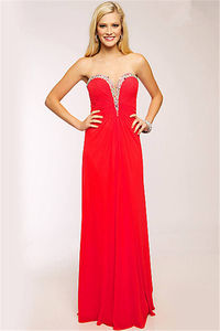Long Red Pleated Jovani 90365 Cheap Prom Gowns 2014
